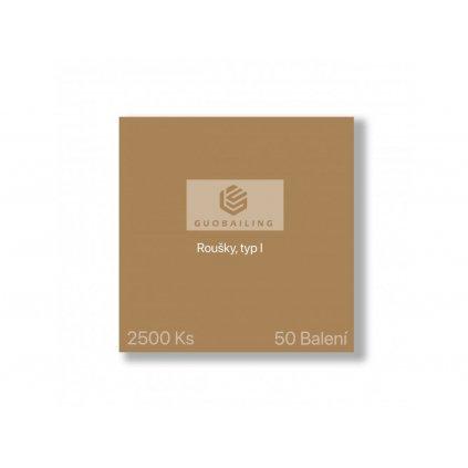 GUOBAILING™ - Roušky, typ I (Master carton)  (50 balení), 1,4Kč (bez DPH)