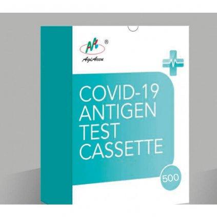 COVID-19 Antigen Test Cassette (hypersen. colloidal gold) - 500ks, Ag test ze slin  60Kč/test