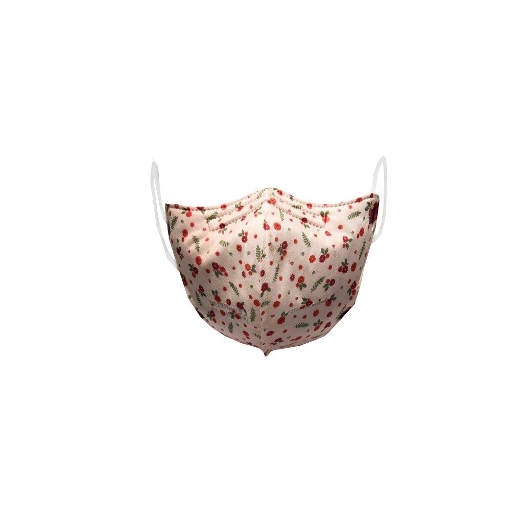 DĚTSKÝ Zdravotnický nano respirátor BALERINA FFP2 PFHM731 Pink flowers