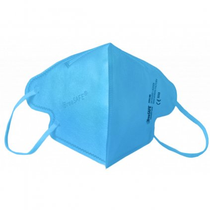 5x Nano respirátor BreaSAFE® COMMUNITY MASK FFP2 Znovupoužitelný - Balení 5ks - Modrá