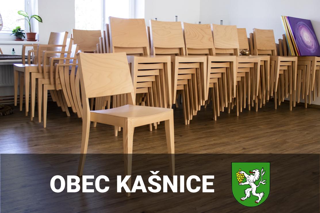 Vybavení nových prostor sálu obecního úřadu v obci Kašnice