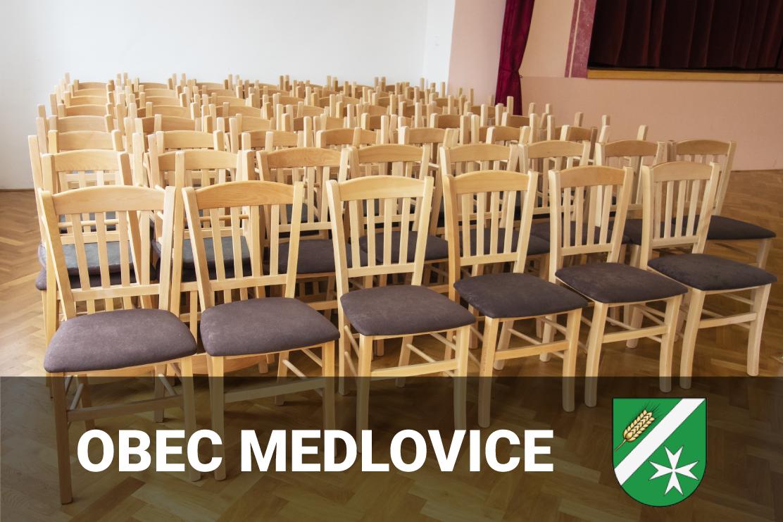 Vybavení kulturního domu v obci Medlovice
