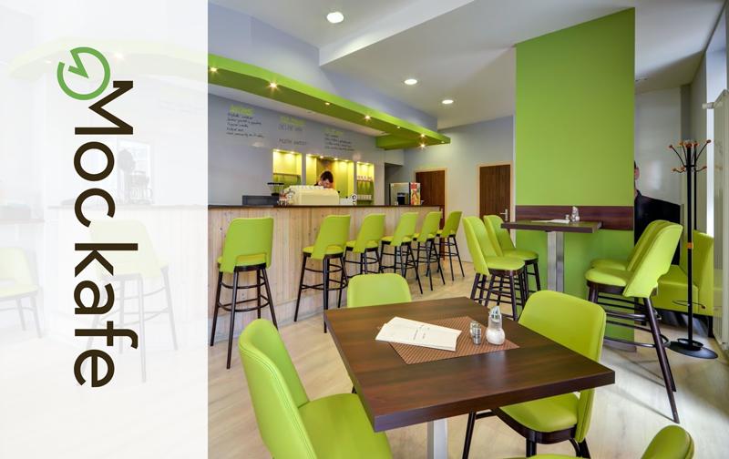 Nábytek do snídaňové restaurace Moc kafé v Opavě