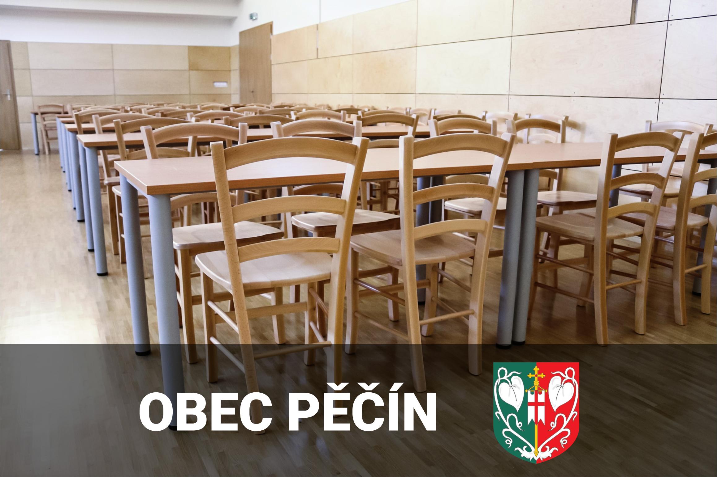 Židle do víceúčelového sálu - Obec Pěčín