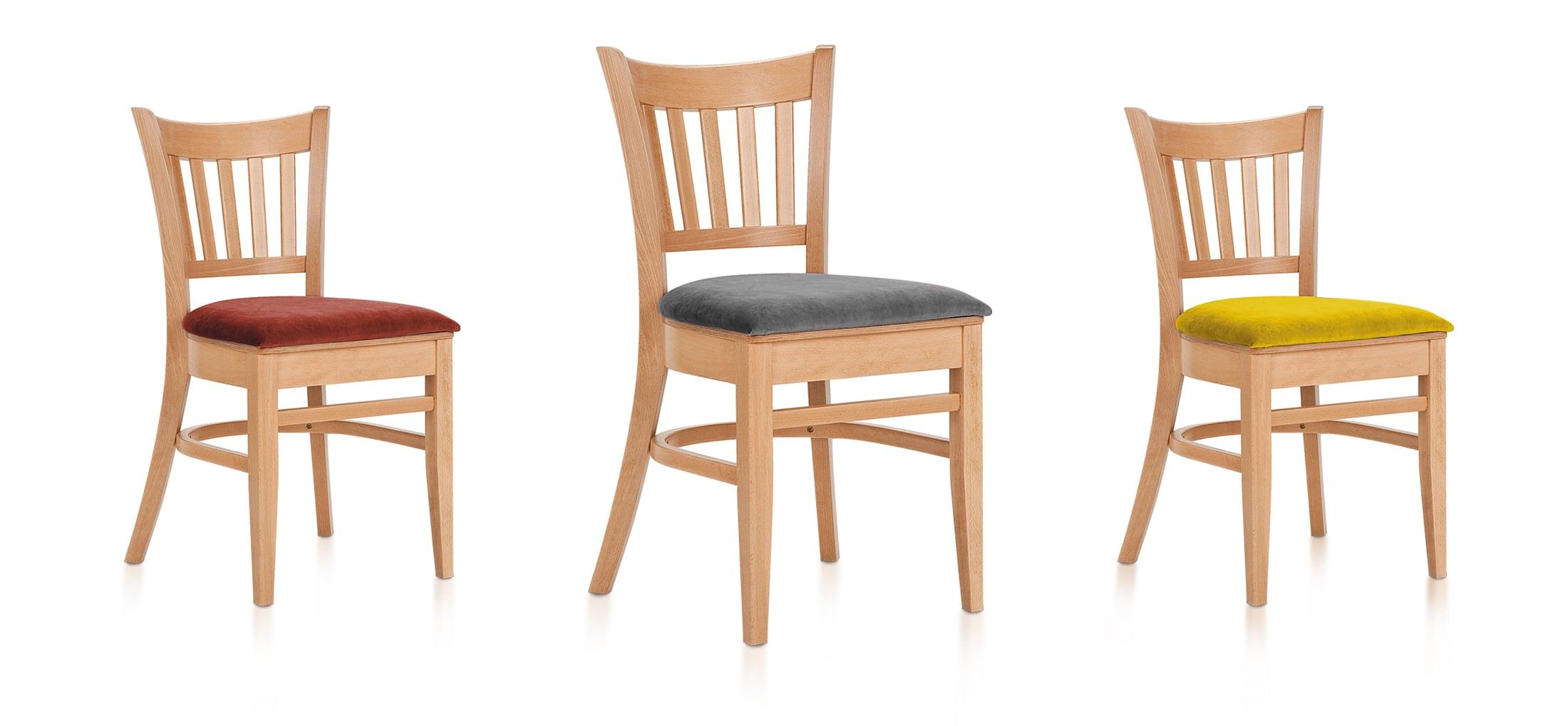 Židle s možností stohovat - buk masiv, čalouněný sedák   Ressed