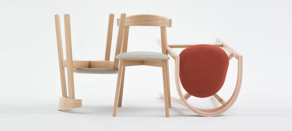 Designové stohovatelné židle z bukového dřeva | Ressed