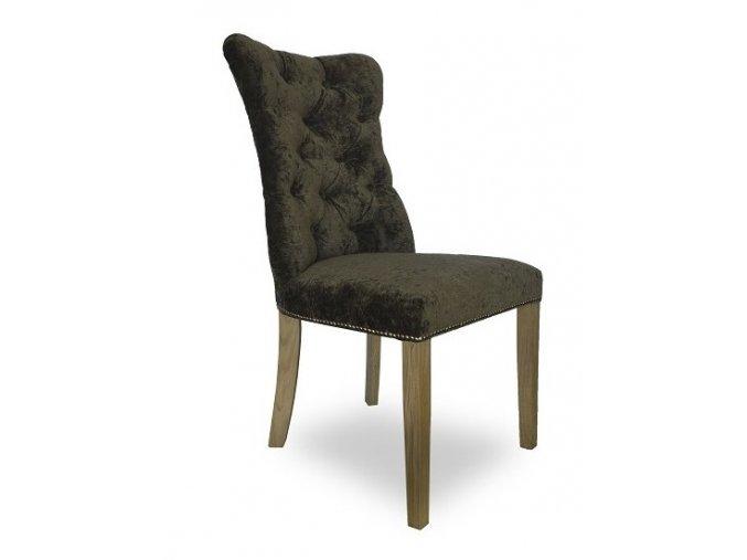 Luxusní prošitá židle Asher s připínáčky