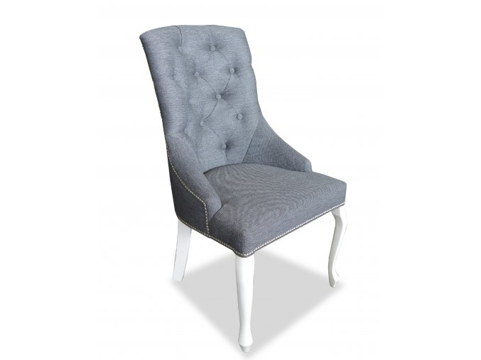 Luxusní židle Lady Sir England s připínáčky, klepadlem a nohy Král Slunce