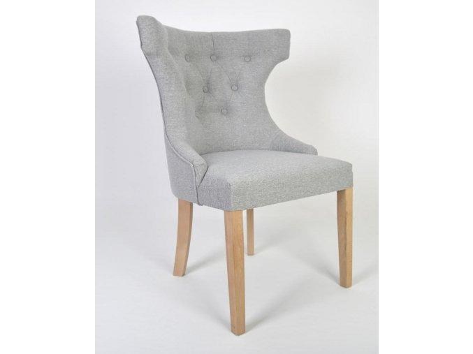 Luxusní prošitá židle King, šedá barva
