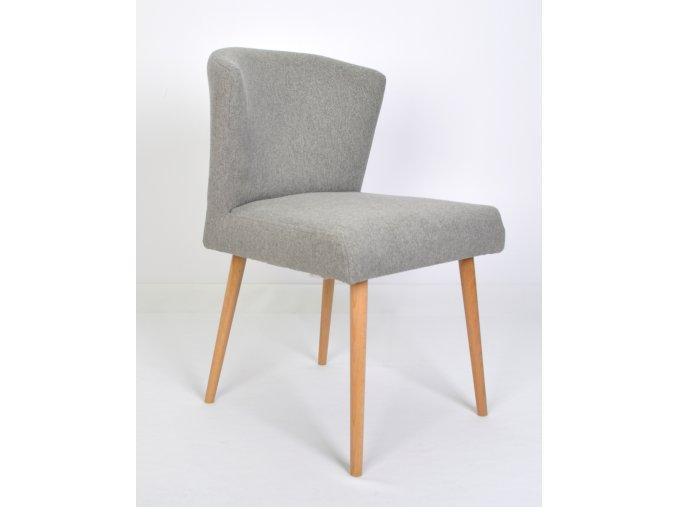 Designová židle Mary, retro, šedá