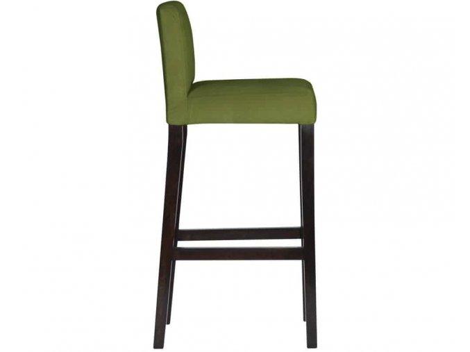 Dřevěná barová židle s připínáčky a klepadlem