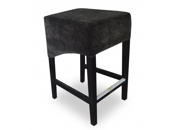 Moderní barová židle se šikmým sedákem, bez opěrky