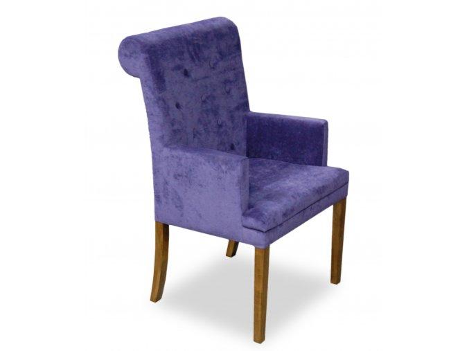 Luxusní prošité křeslo Throne s opěradlem Roller