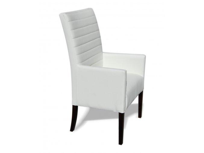 Moderní prošité křeslo se zesíleným sedákem, vysoké