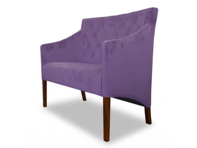 Moderní prošitá lavice Slide se šikmým sedákem
