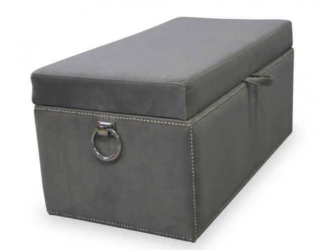 Luxusní taburet s úložným prostorem s přípínáčky a klepadly