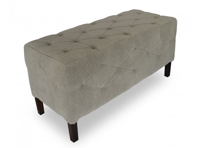 Luxusní prošitý dlouhý taburet, prošitý sedák i boky