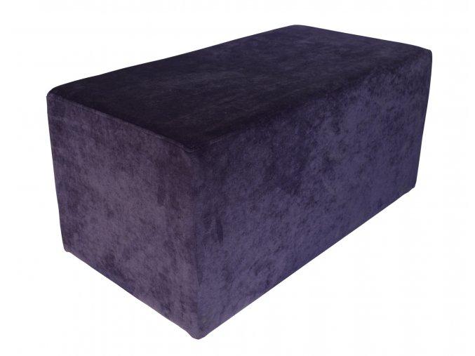 Luxusní dlouhý taburet s plným sedákem (kostka)