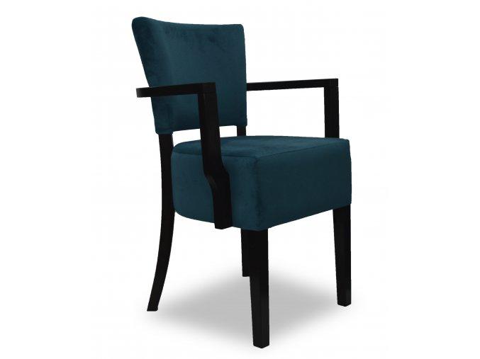 Designová židle Cannes bis s područkami, semiš