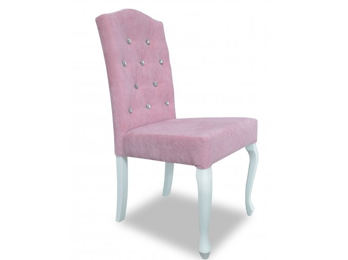 Luxusní prošitá židle Král Slunce s ozdobnými kamínky