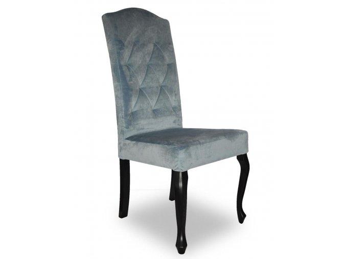 Luxusní prošitá židle Král Slunce, vysoká, pohodlná