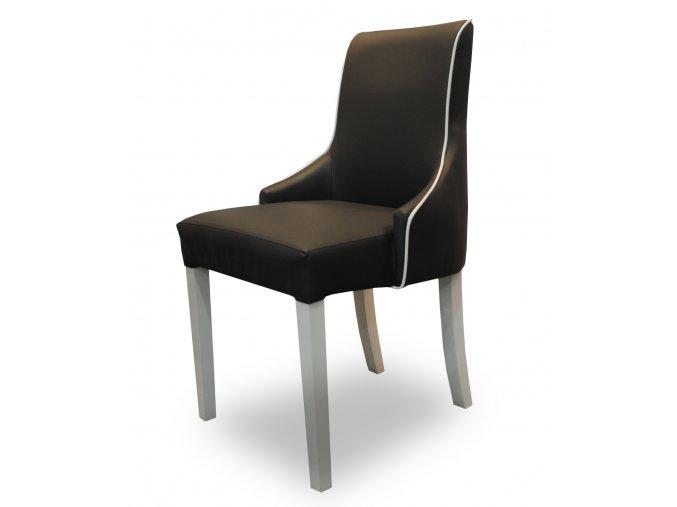 Luxusní židle Queen s lemováním, snadno udržovatelná, koženka