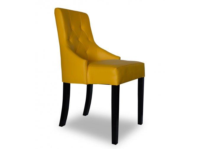 Luxusní prošitá židle Queen, snadno omyvatelná