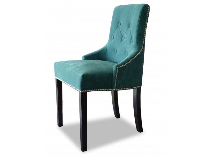 Luxusní prošitá židle Queen s knoflíky a připínáčky