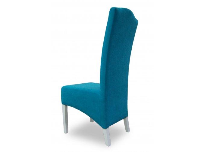 Moderní židle Comforta se šikmým sedákem, s opěradlem Král Slunce, tyrkysová
