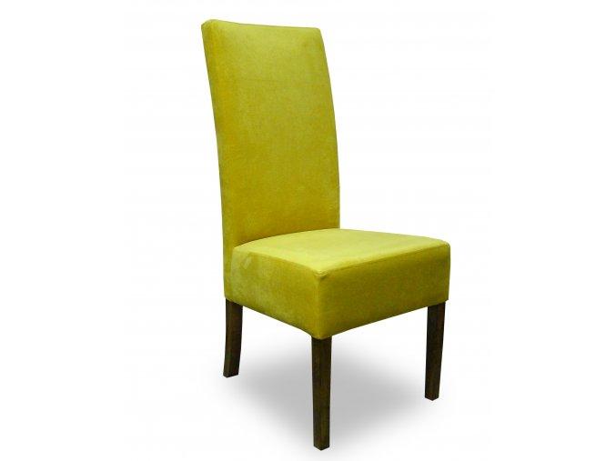 Moderní židle Comforta se zesíleným sedákem, žlutá, vysoká, do restaurace