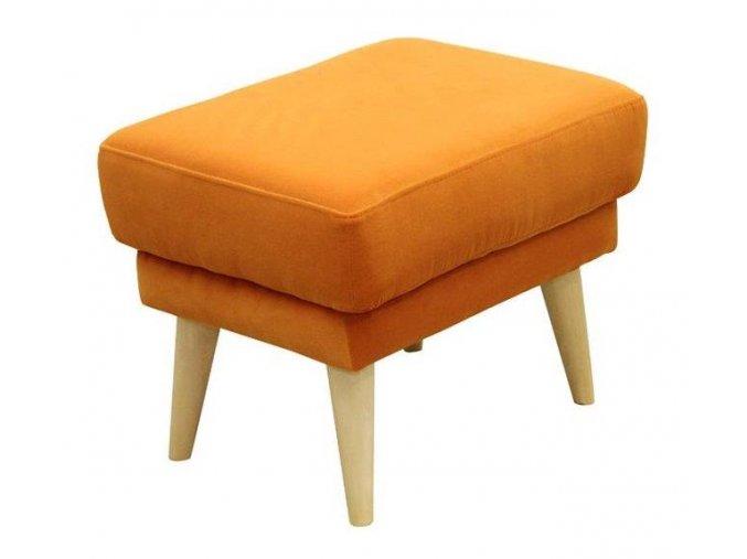 Designový taburet Twire-OK, oranžový