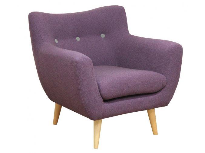 Designové křeslo Twire-OK, klubové, fialové