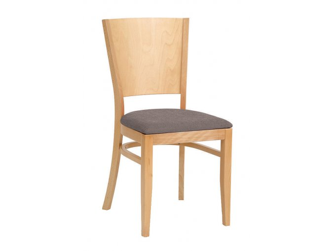 Židle s plným opěradlem s čalouněným sedákem | Ressed