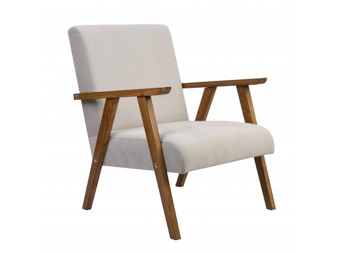 Designové křeslo Classe, dřevěné područky