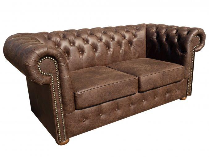 Kožená sedačka, z hovězí kůže v chesterfield stylu | Ressed