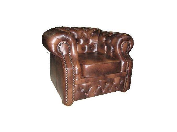 Chesterfield kožené křeslo v luxusním anglickém stylu | Ressed