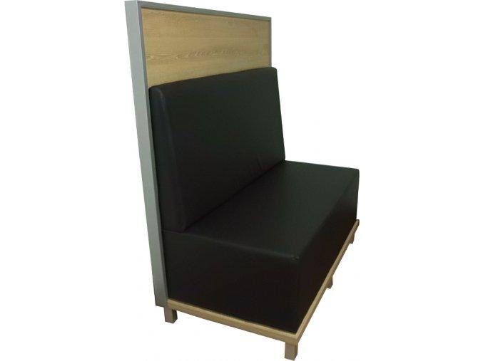 Čalouněný restaurační box s dřevěnou příčkou | Ressed