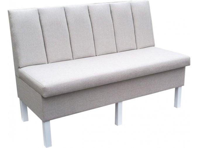 Čalouněná lavice - svislé pruhy | Ressed