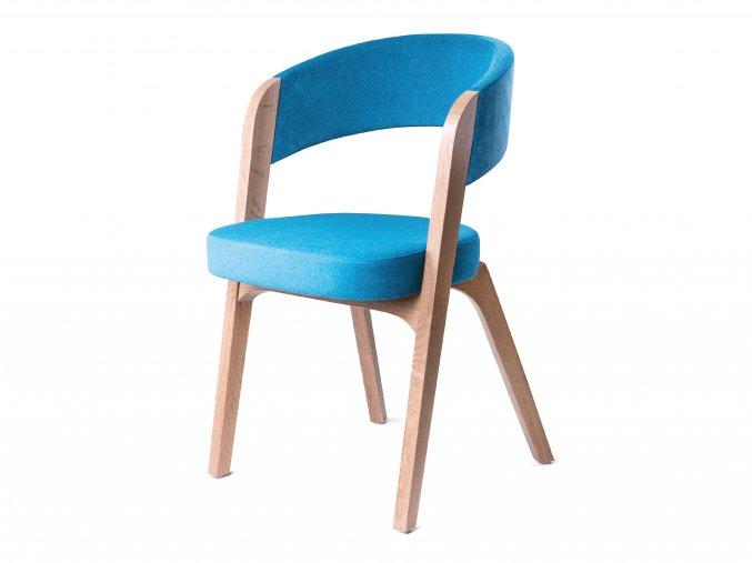 Dřevěné křeslo s čalouněným sedákem a opěradlem | Ressed