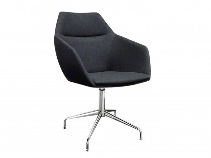 Čalouněné kancelářská židle s kovovou podnoží | Ressed
