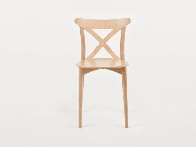 Celodřevěná židle s křížem na opěrce | Ressed