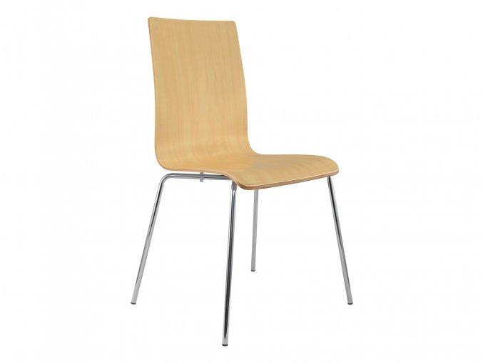 Dřevěná židle s chromovanou kostrou | Ressed