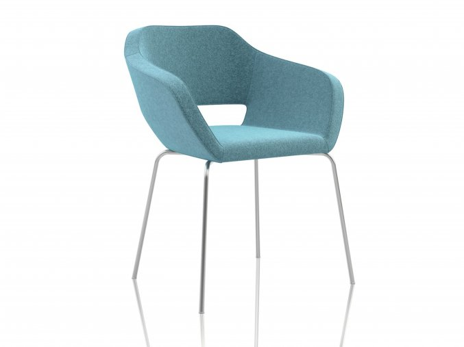 Konferenční židle z chromovanýma nohama | Ressed