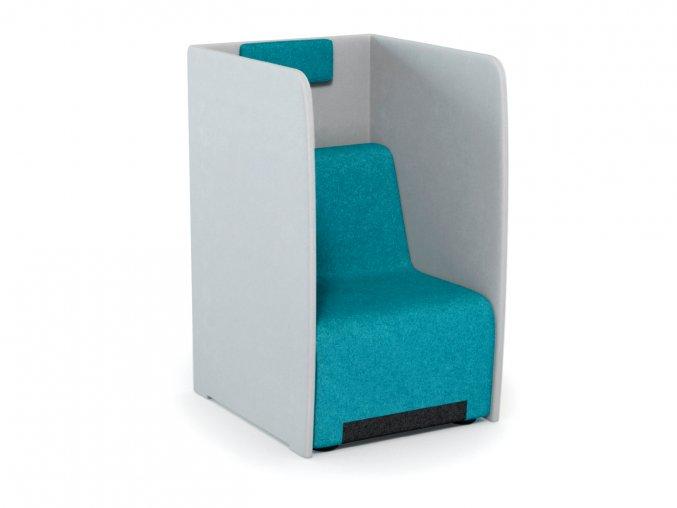 Čalouněné křeslo s akustickým panelem pro otevřené prostory kanceláře | Ressed