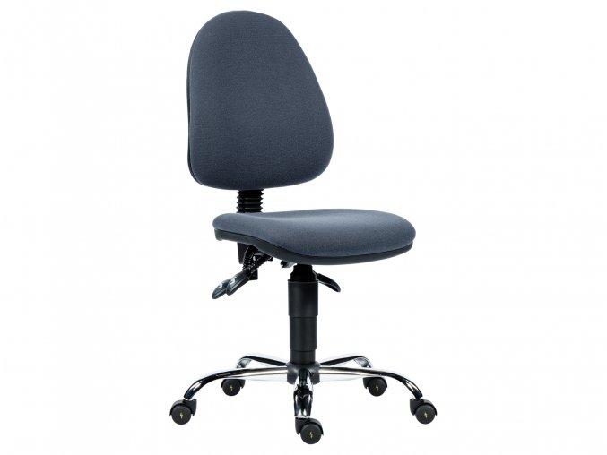 Kvalitní židle s antistatickým potahem bez podhlavníku a područek vyrobena v ČR | Ressed
