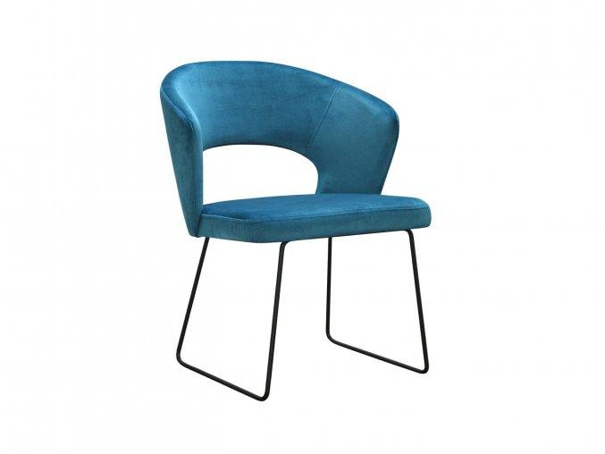 Kožená židle s ližinovou podnoží | Ressed