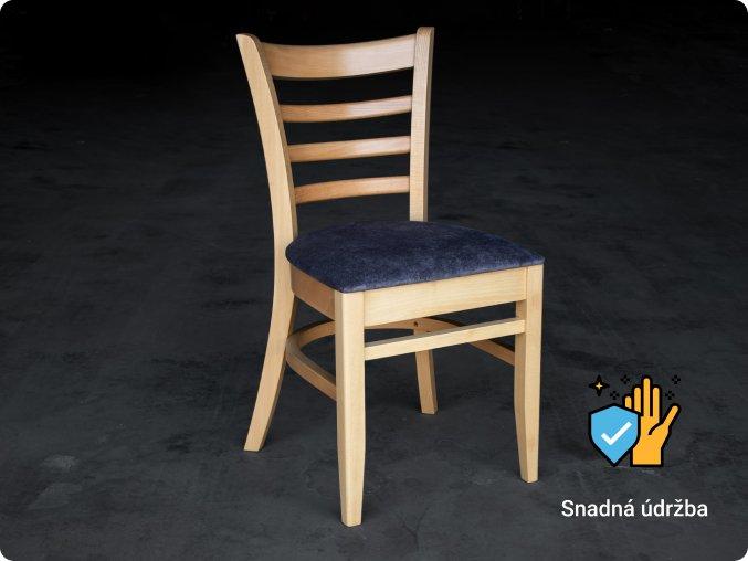 Buková masivní židle do kulturních sálů s extra výdrží a zvýšenou nosností   ressed