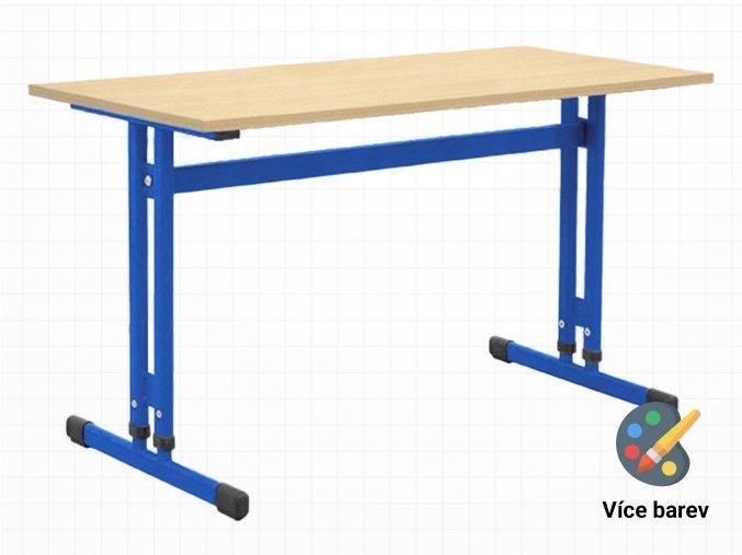 Školní lavice pro 2 osoby s nastavitelnou výškou desky stolu   Ressed