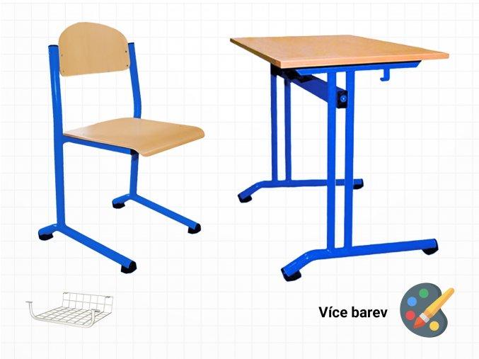 Set lavice a židle do tříd základních škol | Ressed