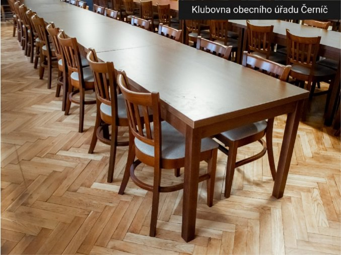 Stůl 80x80 cm, buk masiv do restaurace | Ressed